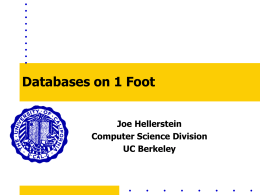 Databases on 1 Foot