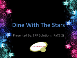 Dine With The Stars - Saigon Institute of Technology