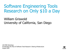 Software Engineering Tools Research on Only $10 a Day