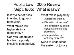 Public Law I: Sept. 9