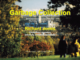 Garbage Collection - University of Kent
