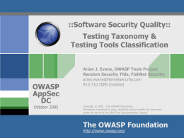 OWASP AppSec 2004 Presentation