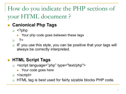 Introduction to PHP