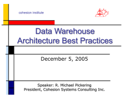 Data Warehouse Architecture Best Practices