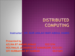 Distributed Computing - Universiti Putra Malaysia