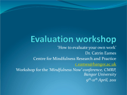 Evaluation workshop