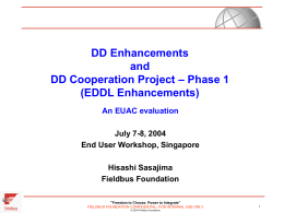 EDDL Enhancements - Fieldbus Foundation
