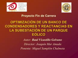 Proyecto Fin de Carrera SISTEMA DE CONTROL DE BAJO …