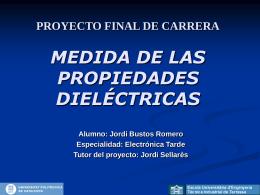 PROYECTO FINAL DE CARRERA MEDIDAS DE LAS …