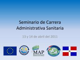 Seminario de Carrera Administrativa Sanitaria