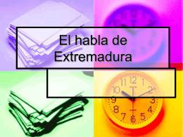 El habla de Extremadura
