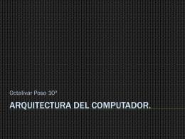 Arquitectura del computador.
