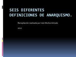 10 definiciones de anarquismo.