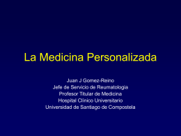 Diapositiva 1 - Instituto Roche, Medicina Individualizada