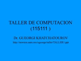 TALLER DE COMPUTACION (115111 )