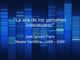 """La era de los genomas individuales"""""""