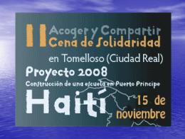 BIENVENIDOS A LA CENA ACOGER Y COMPARTIR DE …