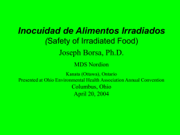 Inocuidad de Alimentos Irradiados Safety of Irradiated Food