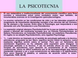 PSICOTECNIA Y PSICOLOGIA DEL TRAFICO Y EL …