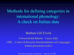 La lingua parlata: prosodia ed interpretazione