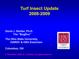 Ornamentals Insect and Mite Update – 2000-2001