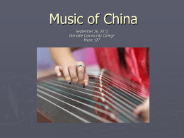 Music of China - Paul J. Sherman