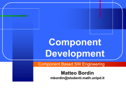 Component Developement