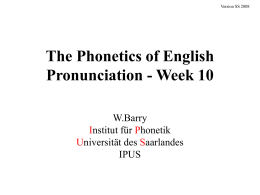 The Phonetics of English Pronunciation