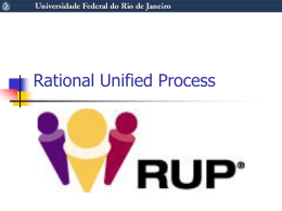 Rational Unified Process - Federal University of Rio de
