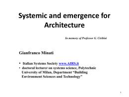 Il brief e l'apertura sistemica