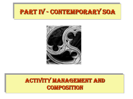 WS-* and contemporary SOA
