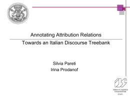 Towards a Discourse Resource for Italian: Developing an