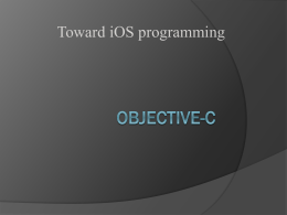 Objective-C - Department of Math & Computer Science