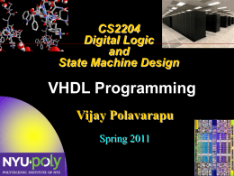 VHDL Constructs - NYU Polytechnic School of Engineering