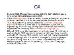 A Comparative Overview of C#