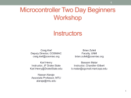 FPGA Two Day Workshop Instructors