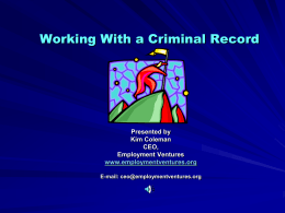 Working With a Criminal Record
