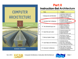 Computer Architecture, Part 2 - University of California