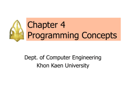 Chapter 4 Programming Concepts