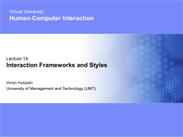 14-Interaction Frameworks & Styles