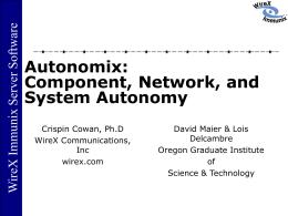 Autonomix - Tolerant Systems
