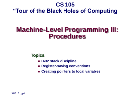 Machine Level Programming III