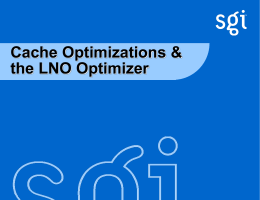Cache Optimizations an the Loop Nest Optimizer
