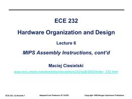 ECE 232 Hardware Design and Organization