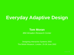 Everyday Adaptive Design