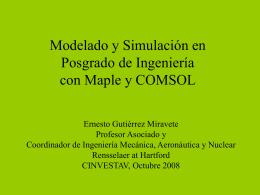 Modelado y Simulacion en cursos de Posgrado de …
