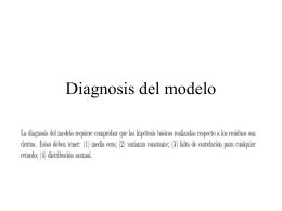 Diagnosis del modelo