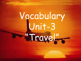 Vocabulary Unit