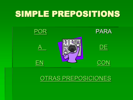 SIMPLE PREPOSITIONS