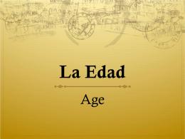 La Edad